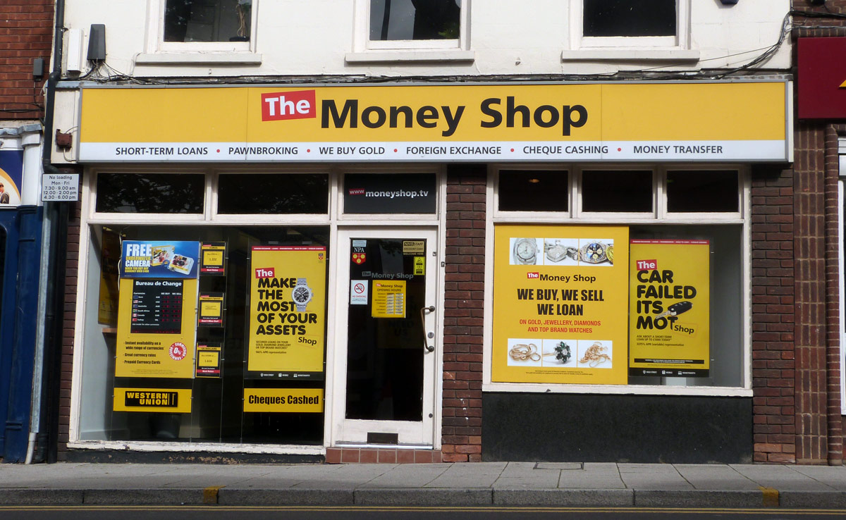 Payday Lender The Money Shop On Sale Due to ''Tough Times''